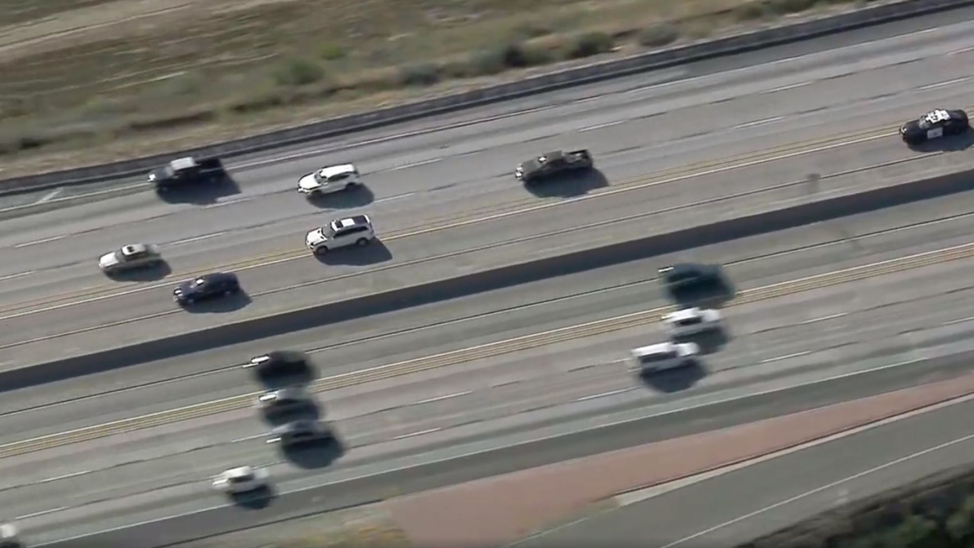 Зрелищно преследване в Лос Анджелис (видео)