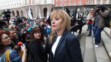 Мая Манолова поведе протест на жълтите павета и обяви, че ще се яви на избори