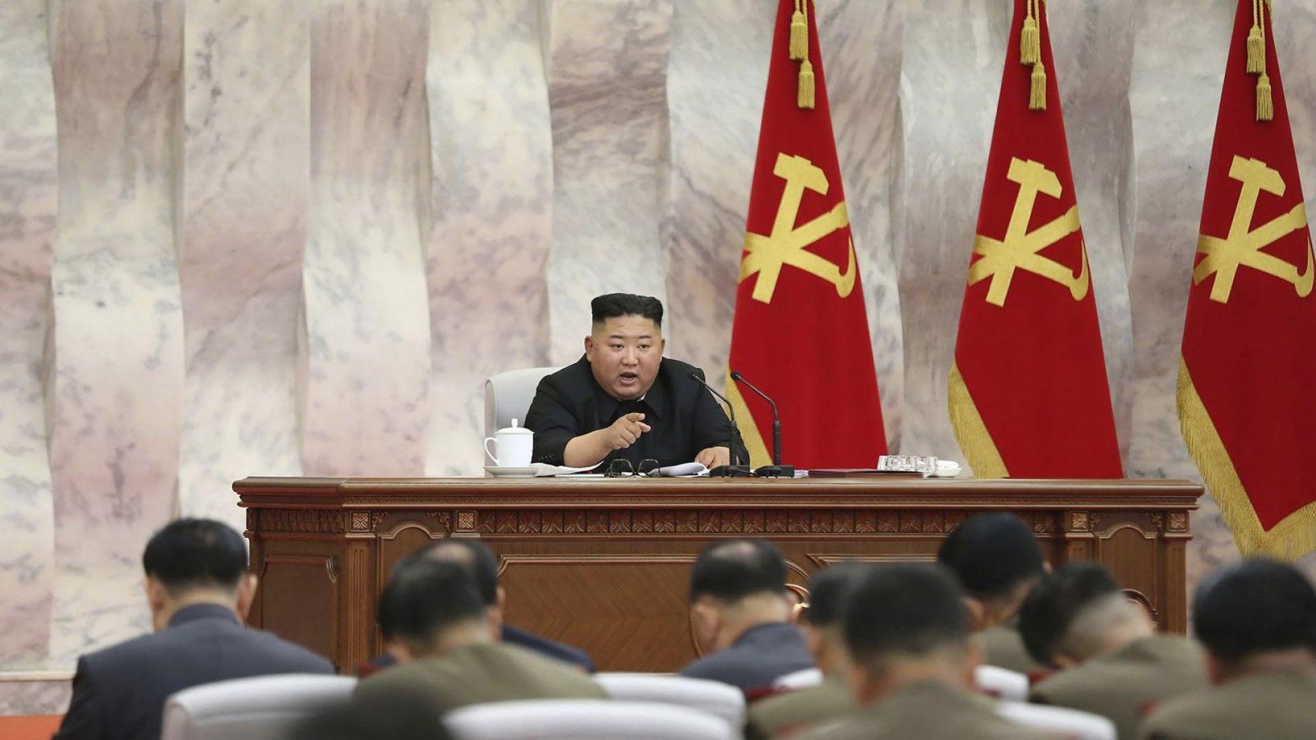 Севернокорейският лидер Ким Чен-ун е председателствал заседание на Централната военна