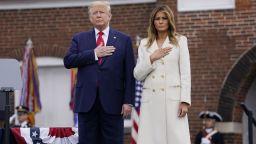 Тръмп положи венец по случай Деня на паметта, първа поява на Байдън от два месеца (снимки)