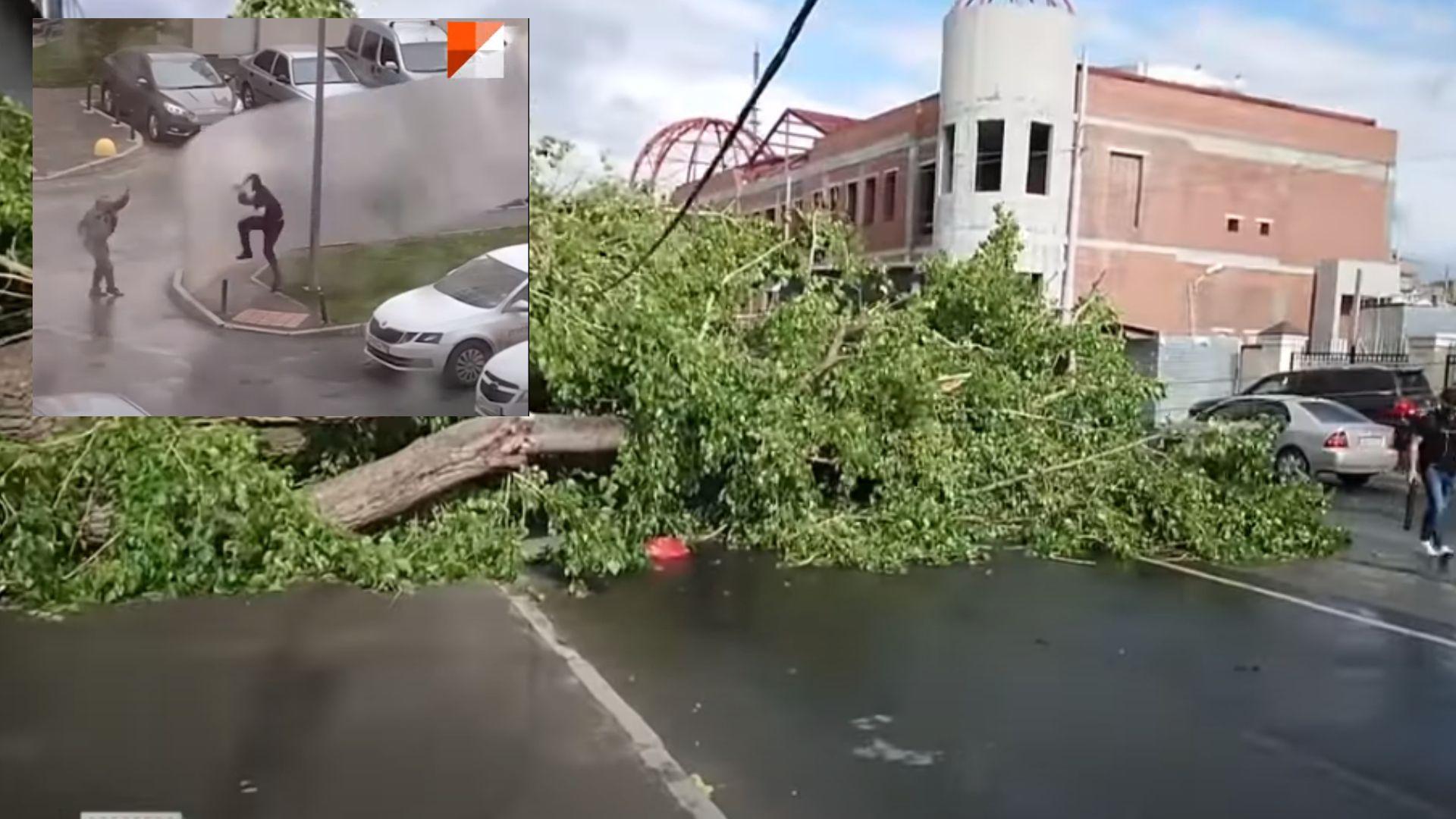 Четирима загинаха при ураган в Екатеринбург, повалени са близо 100 дървета (видео)