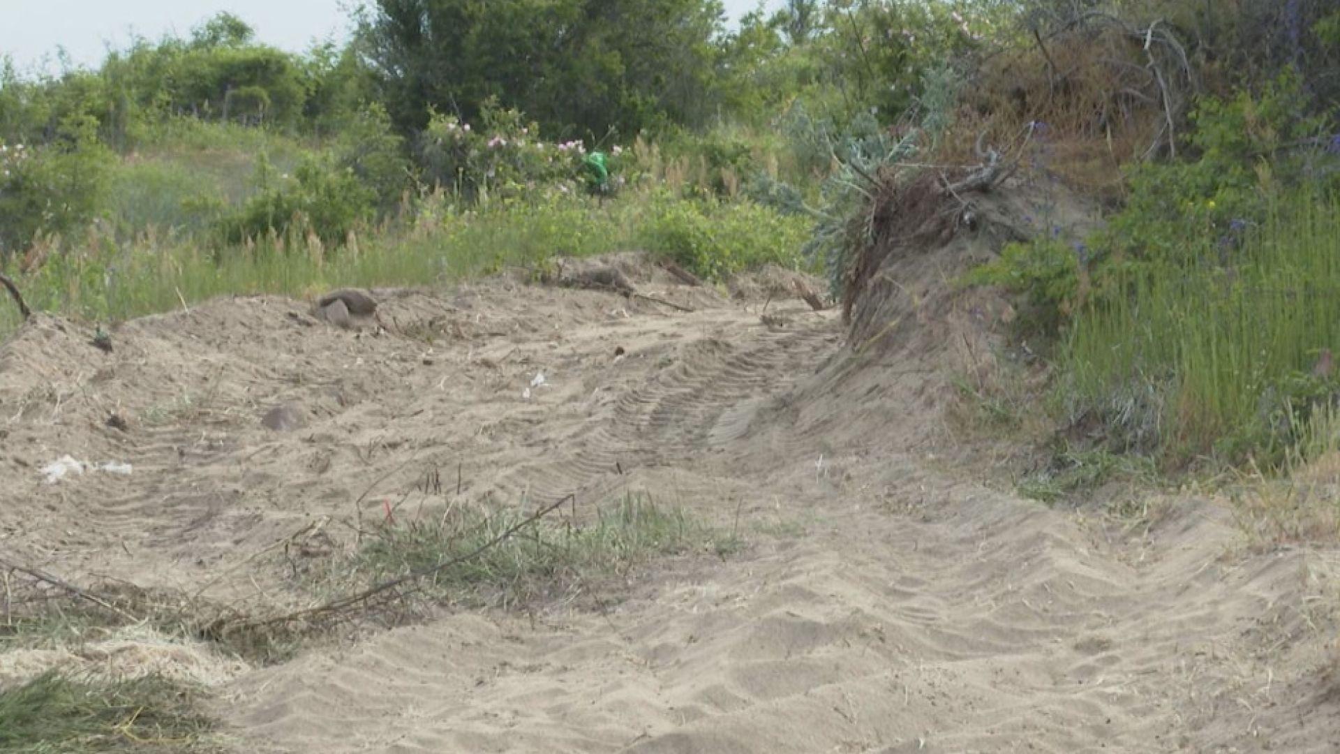 Багер, разорал плажа в Ахтопол, е увредил сиви дюни, показа