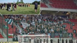 Появи се видео с масов уговорен бой между пловдивски футболни фенове