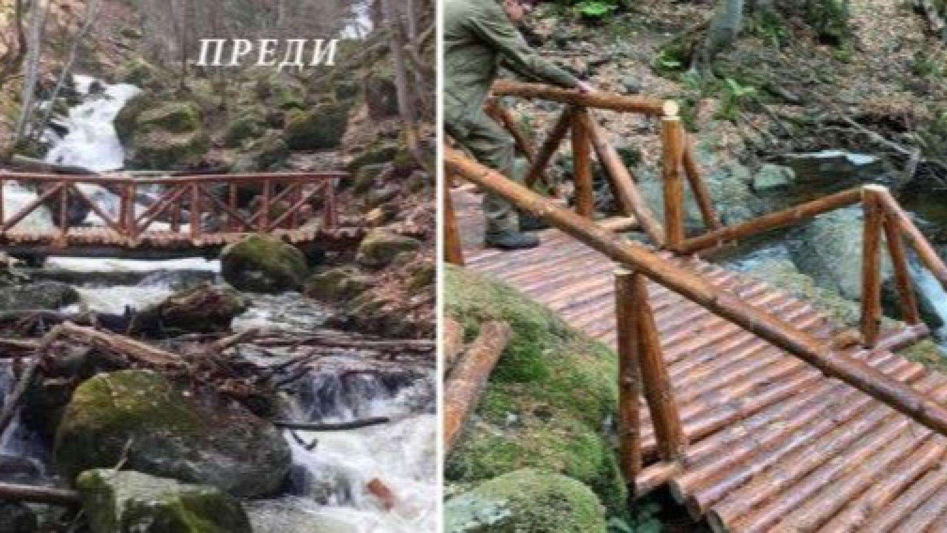 Изграденият с европейски средства мост над Боянска река стана жертва