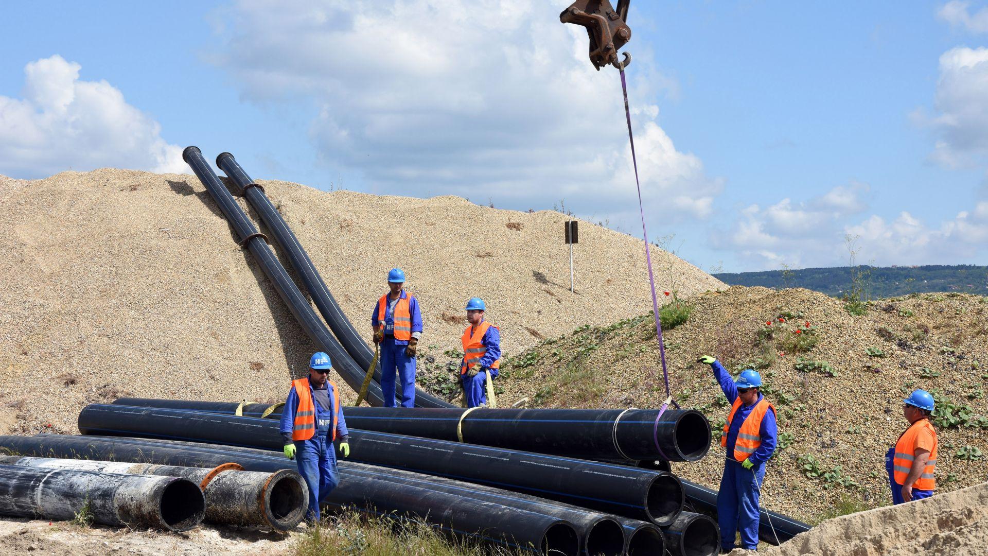 Геоложки проблем спрял *възстановяването на тръбопровода( под Варненското езеро