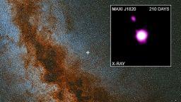"""Телескопът """"Чандра"""" засне изхвърляне на снопове материя от черна дупка"""