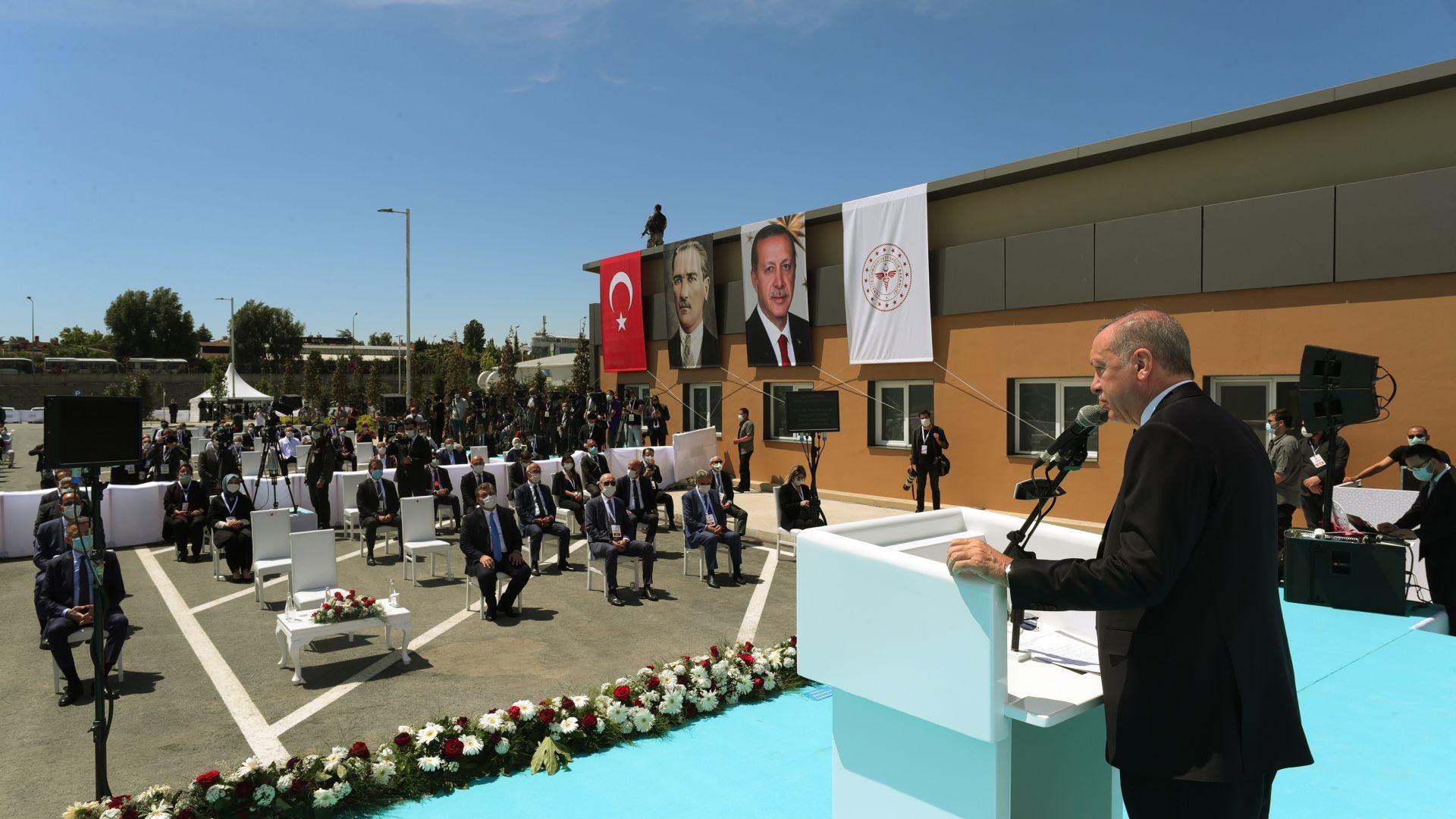Ердоган откри нова болница за Covid-19 в Истанбул: Това е нашата гордост! (снимки)