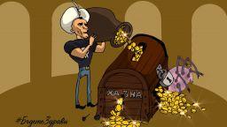 Али Баба с череп на гърди: Божков пусна комикс във Фейсбук