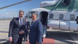 """Борисов посрещна Вучич, инспектираха с хеликоптер АМ """"Европа"""" и """"Балкански поток""""  (видео)"""