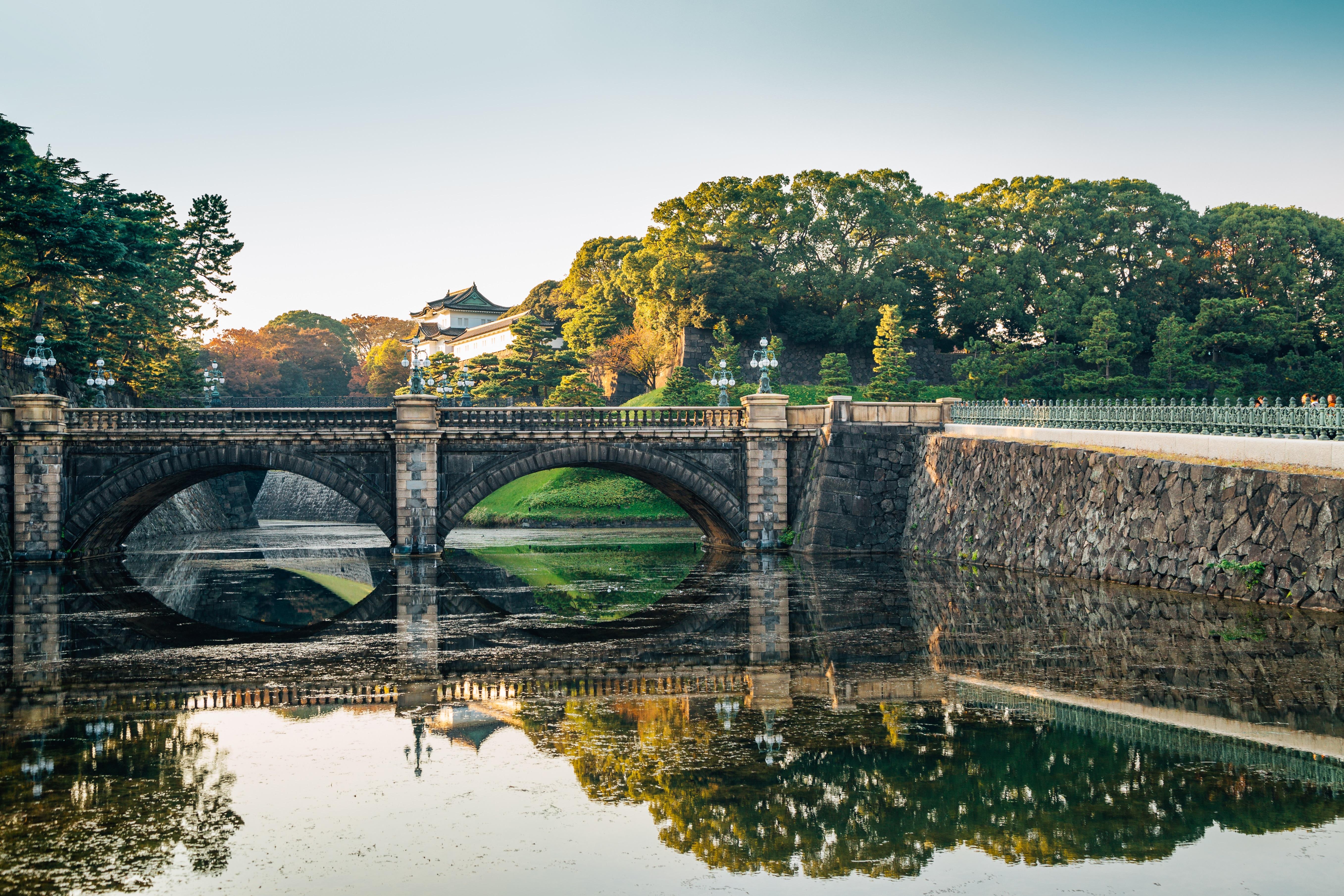 Градините на императорския дворец в Токио