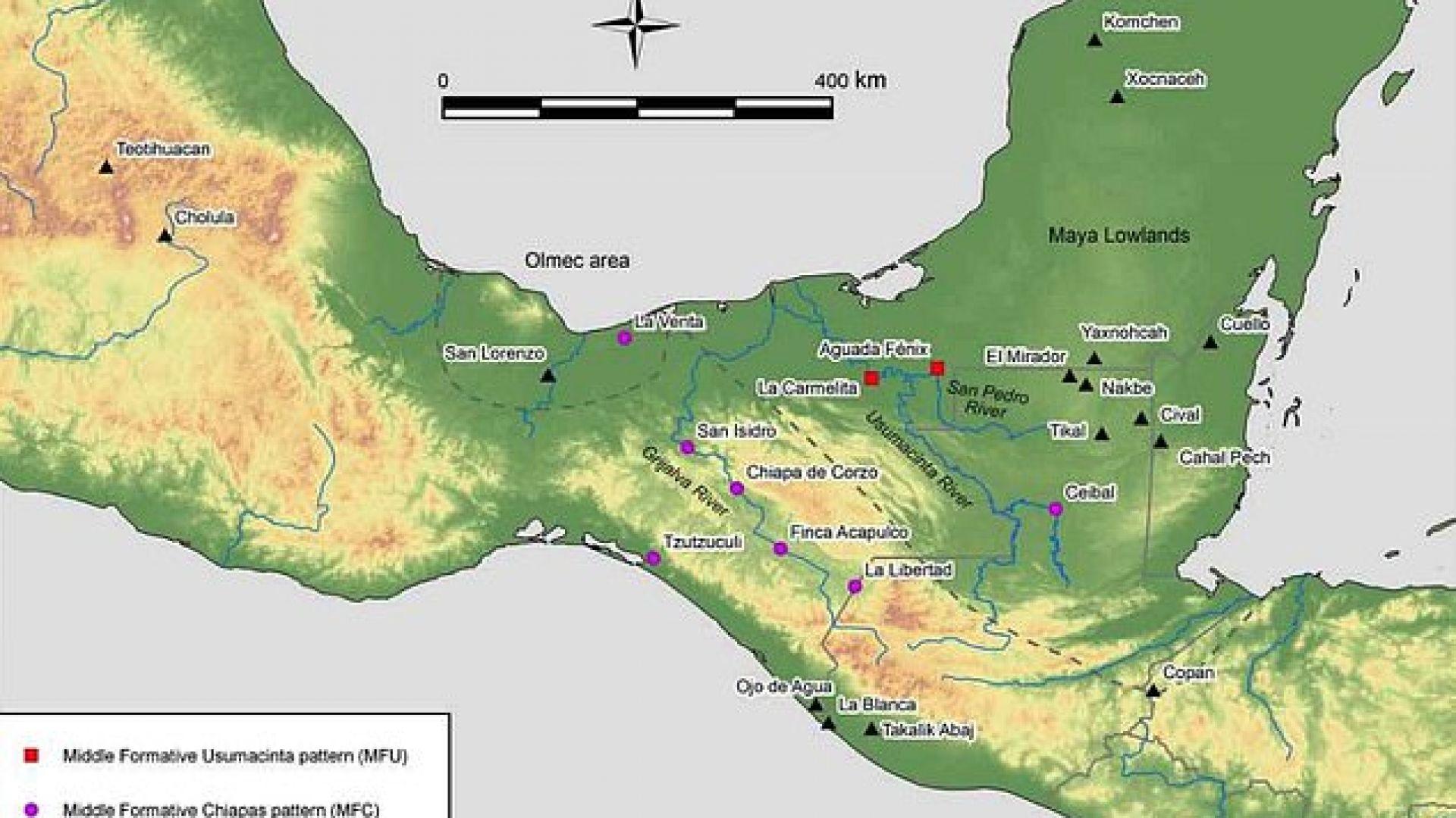 Aquada Fénix се намира в Мексико, но е непосредствено до границата с Гватемала