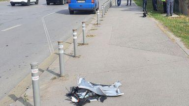 """Моторист загина след удар в автобус на """"Цариградско шосе"""", вероятно е имало гонка (снимки)"""