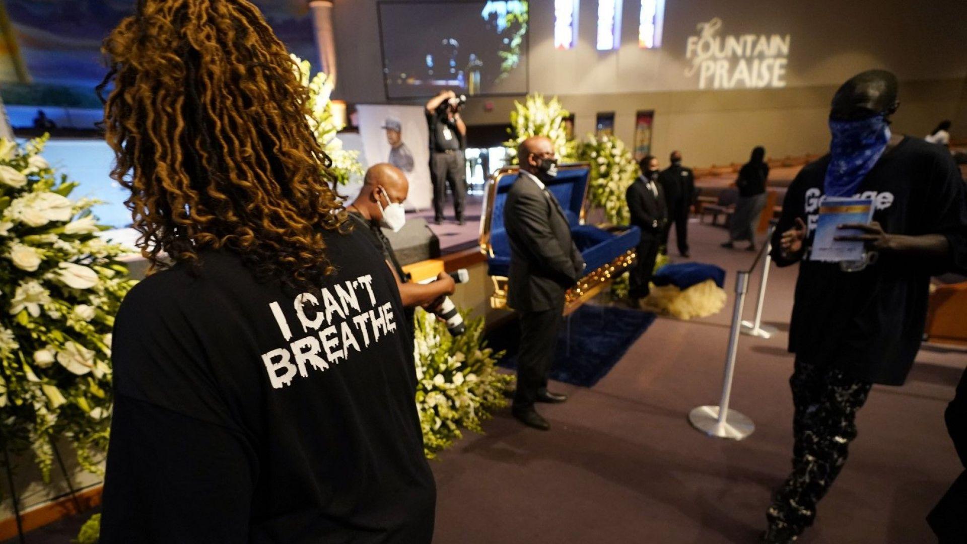 Ковчегът с тялото на Джордж Флойд  пристигна за поклонение  в църква в Хюстън