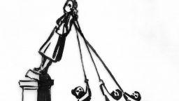 Банкси предлага какво да замени сринатата статуя в Бристол