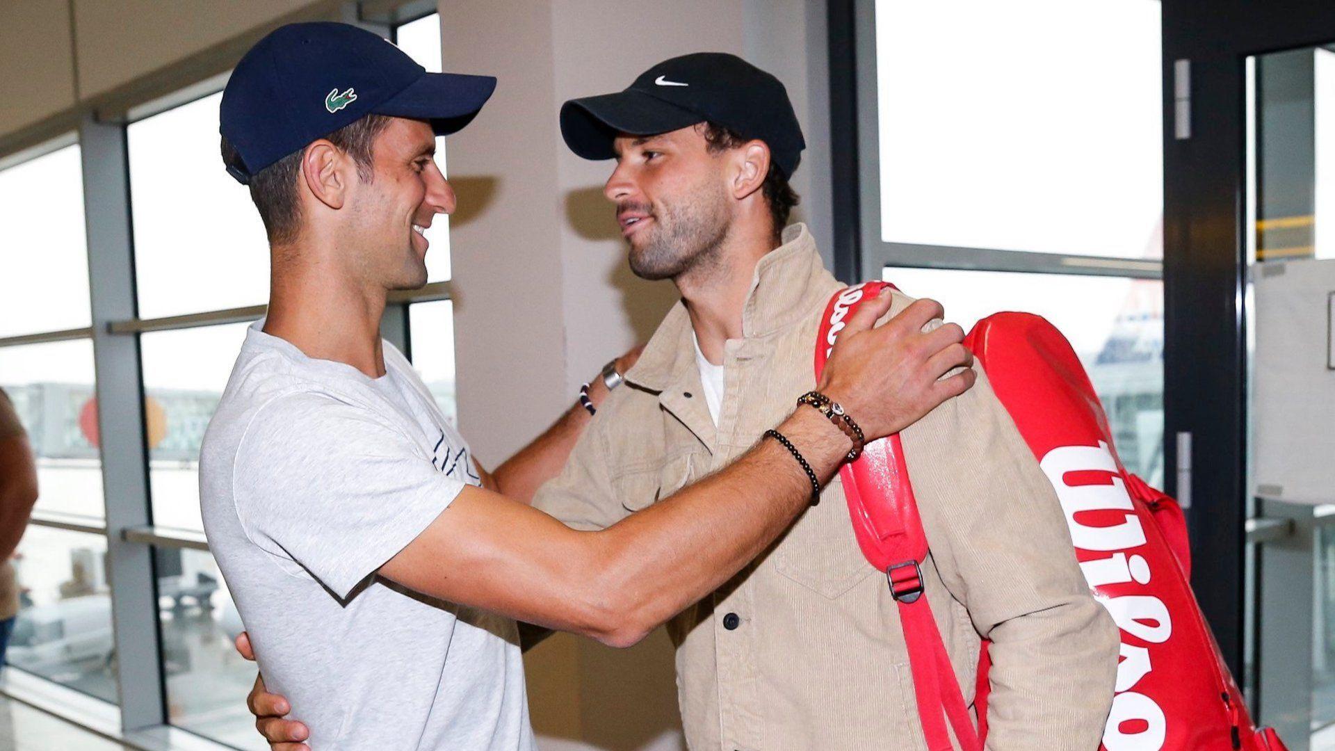 Джокович посрещна Григор в Белград с братска прегръдка