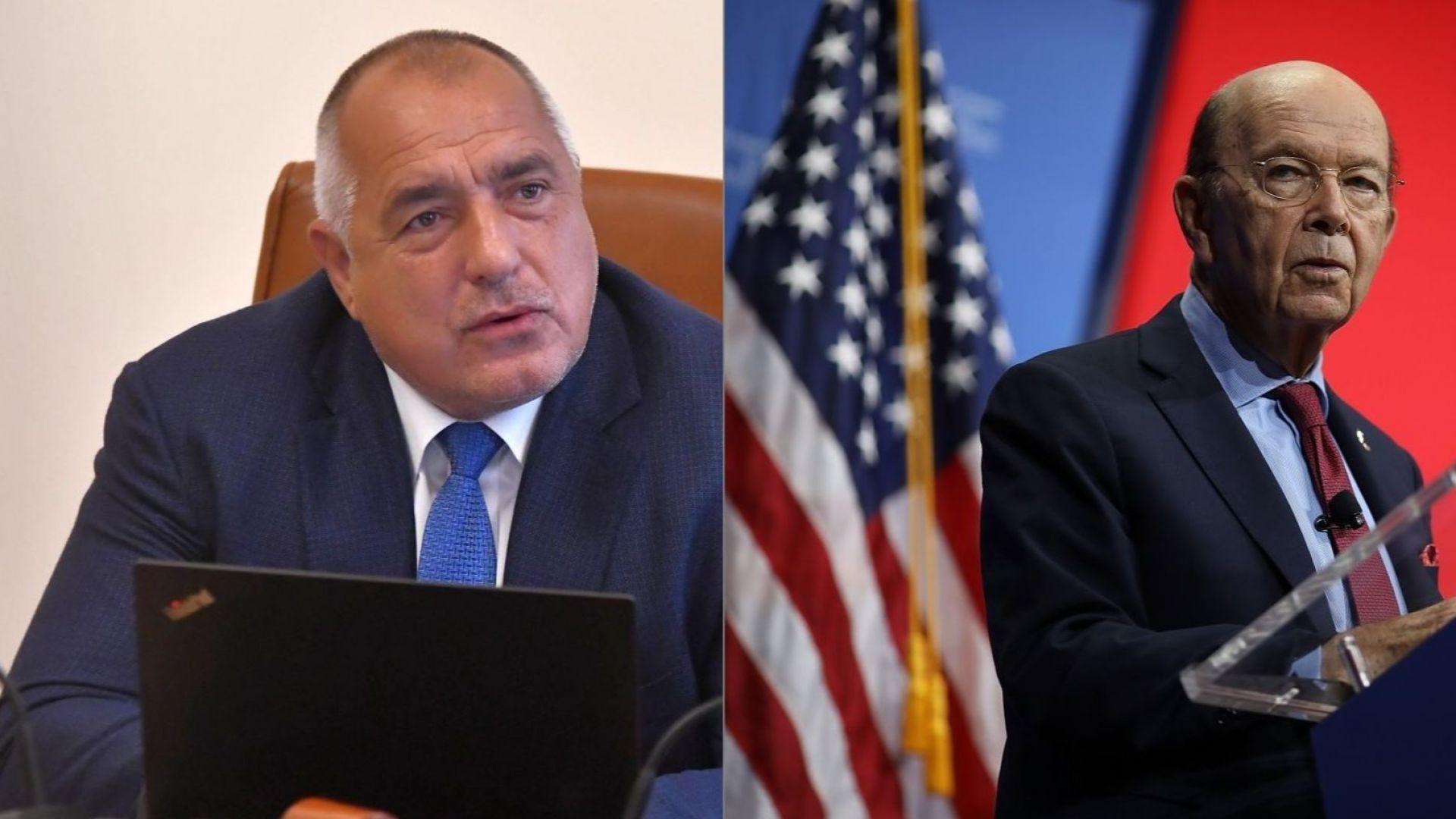 За икономиката и газа: Стратегически разговор на Борисов със секретаря по търговията на САЩ