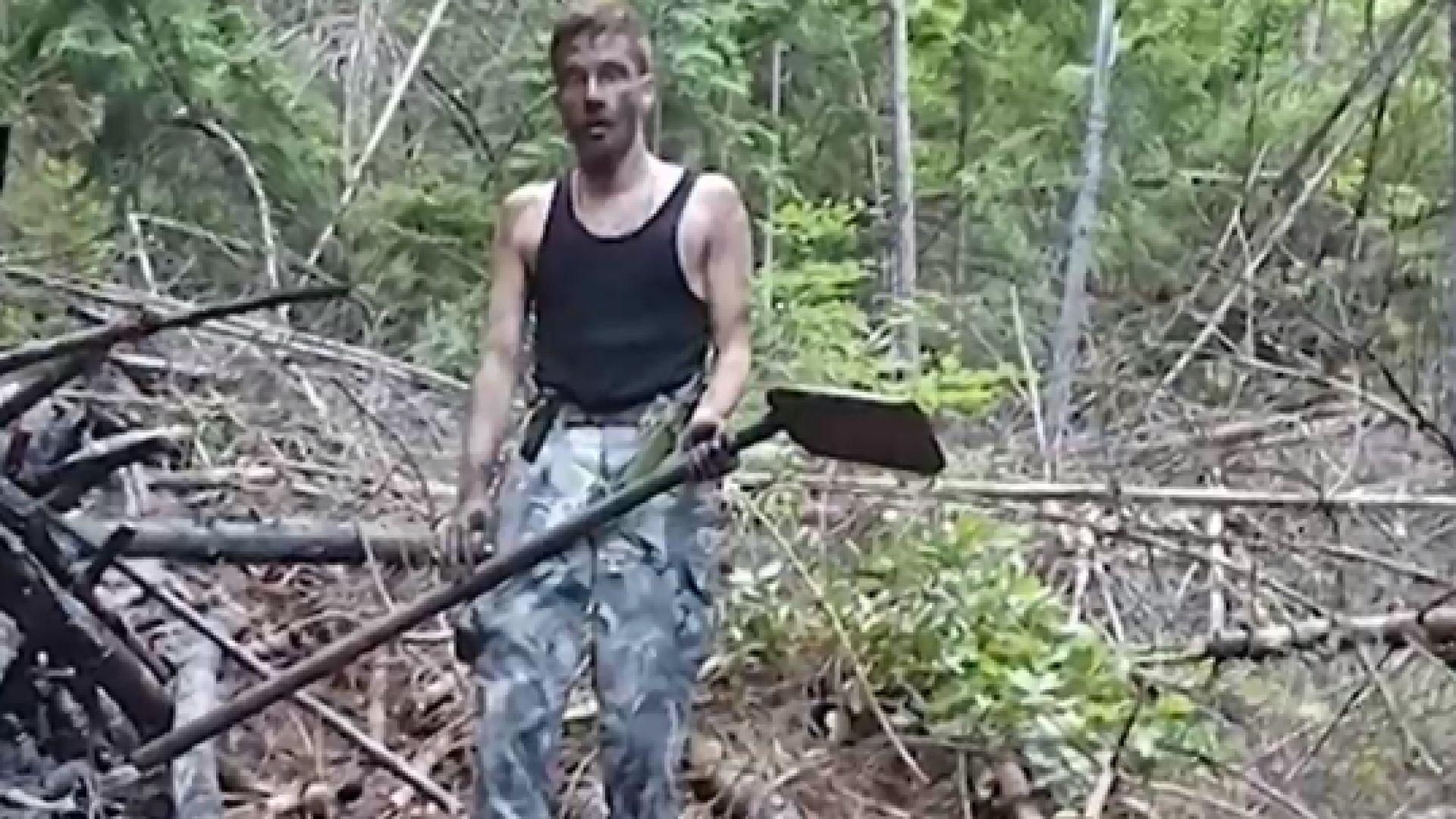 Млад мъж спаси сам село и гора от пожар, горящо дърво паднало върху него