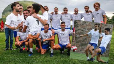 Григор игра футбол и заби гол в мач на звездите в Сърбия (Снимки и видео)