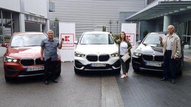 Kaufland България награди големите победители в играта за три чисто нови автомобила