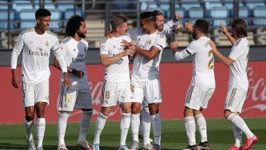 Реал вкара три пъти за полувреме и се върна победоносно