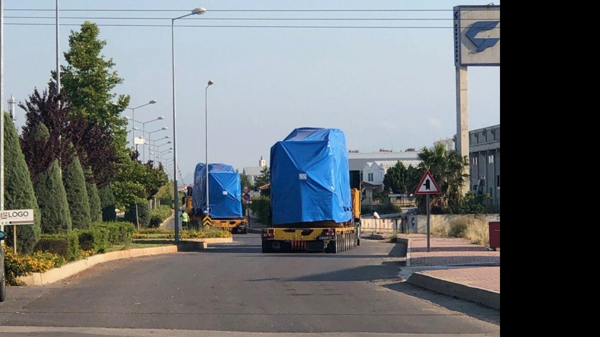 Три газови когенерации се транспортират към Перник от пристанище Бургас