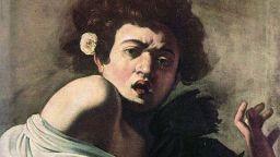 """Емблематичната """"Момче, ухапано от гущер"""" на Караваджо е изложена в Рим"""