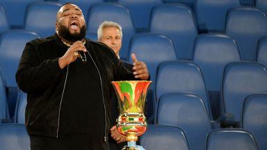 Изпълнителят на химна преди финала за Купата: Не забравих текста, просто се развълнувах