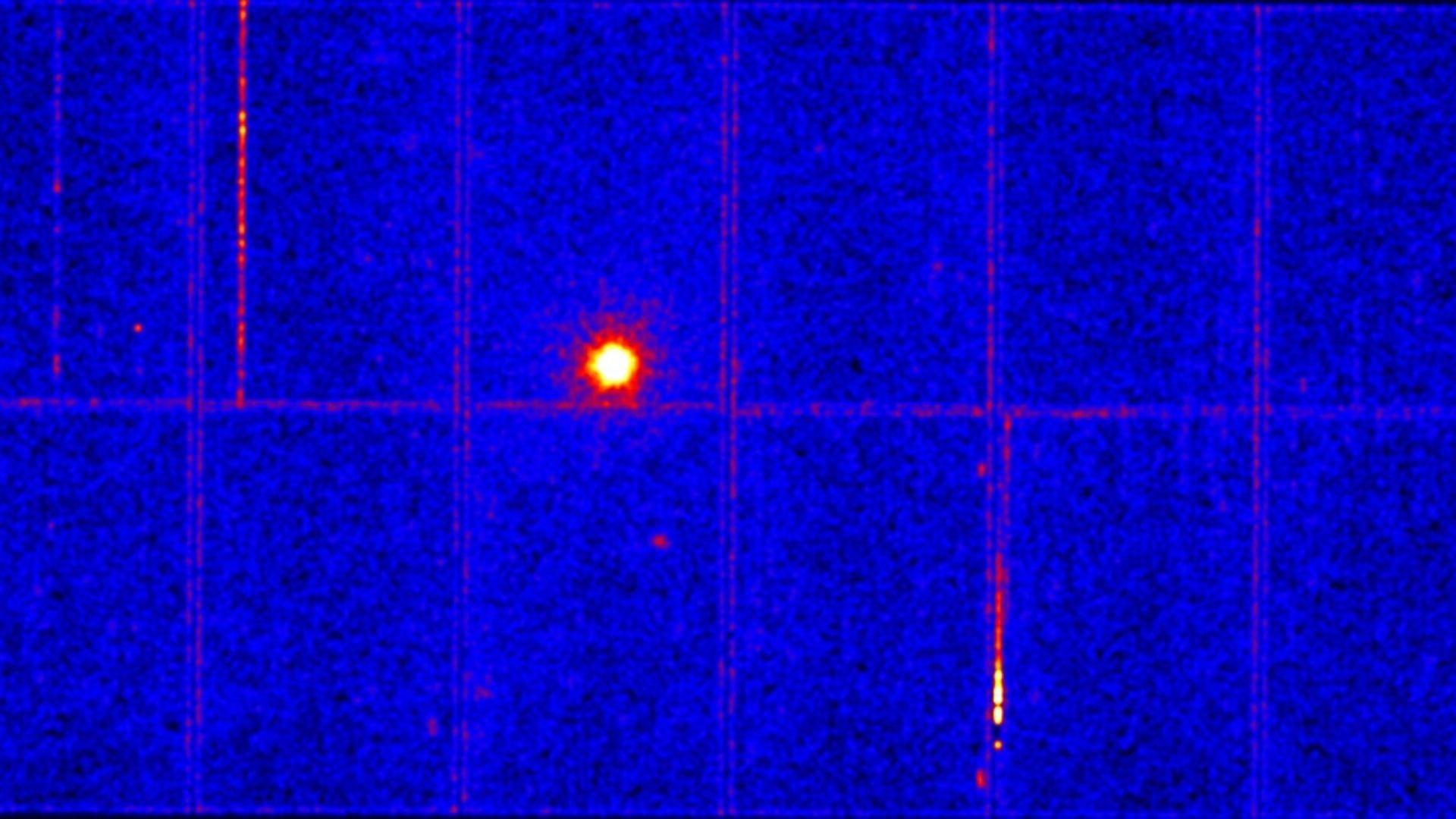 Така изглежда направената снимка на пулсара