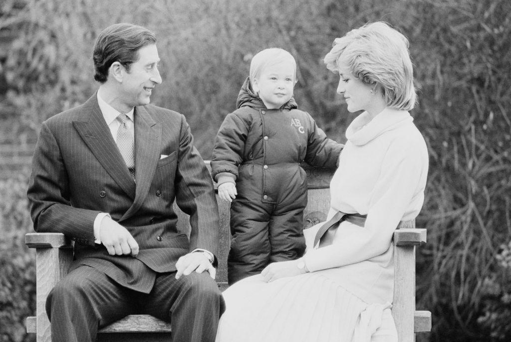 Принц Чарлз и принцеса Даяна със сина им Уилям