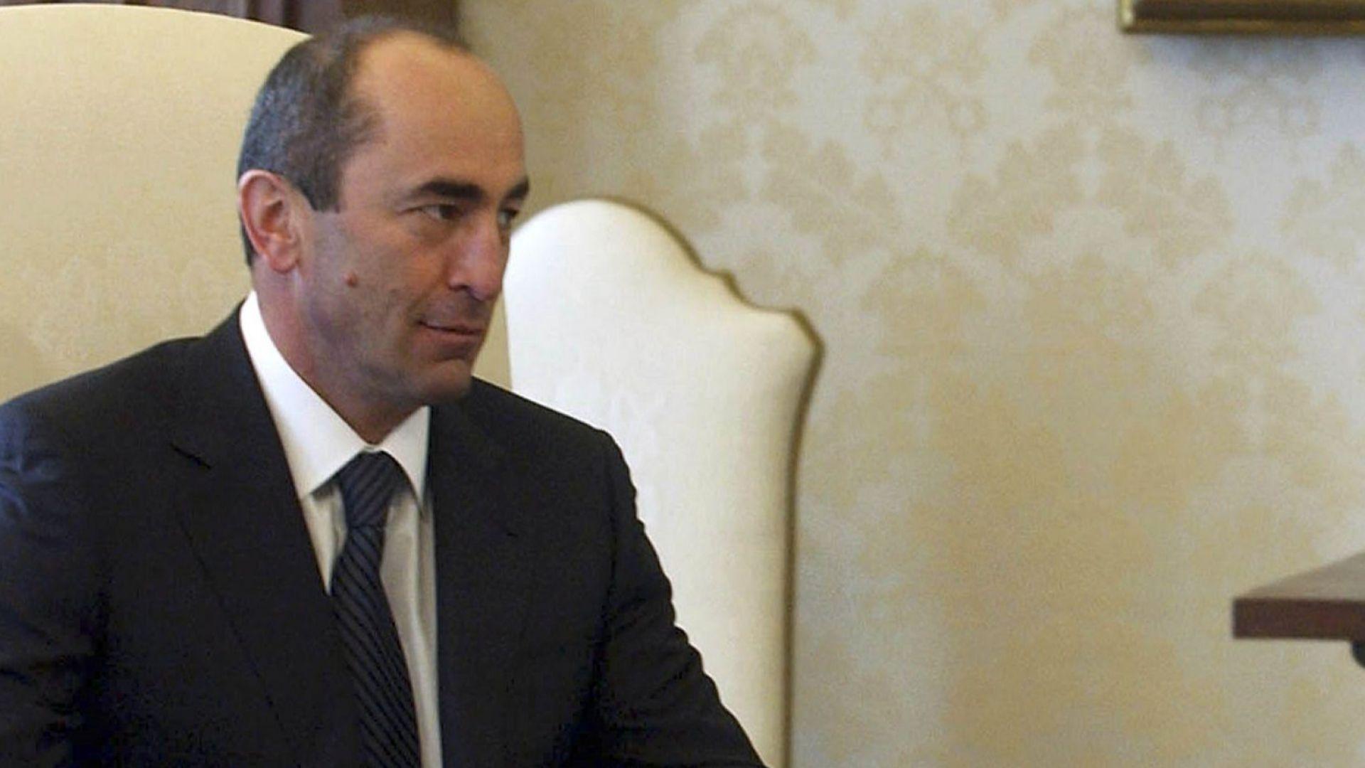 Освободиха експрезидента на Армения срещу гаранция от $4 млн.