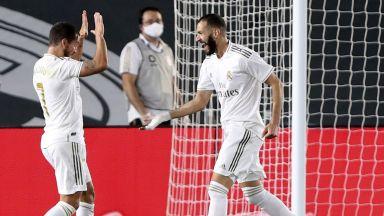 Реал не изпуска от очи Барса, а Бензема мина Пушкаш за историята (Видео)