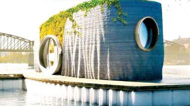 Скулптор направи първата по рода си плаваща 3D печатна къща в света
