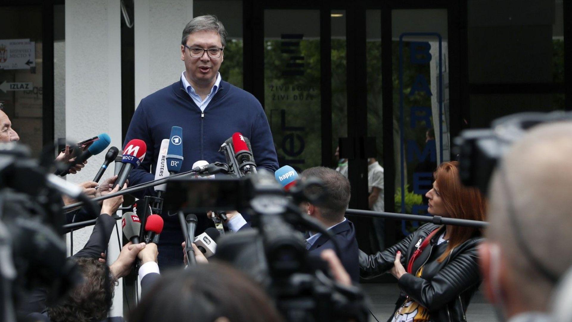 Вучич твърдо готов да приключи косовския въпрос