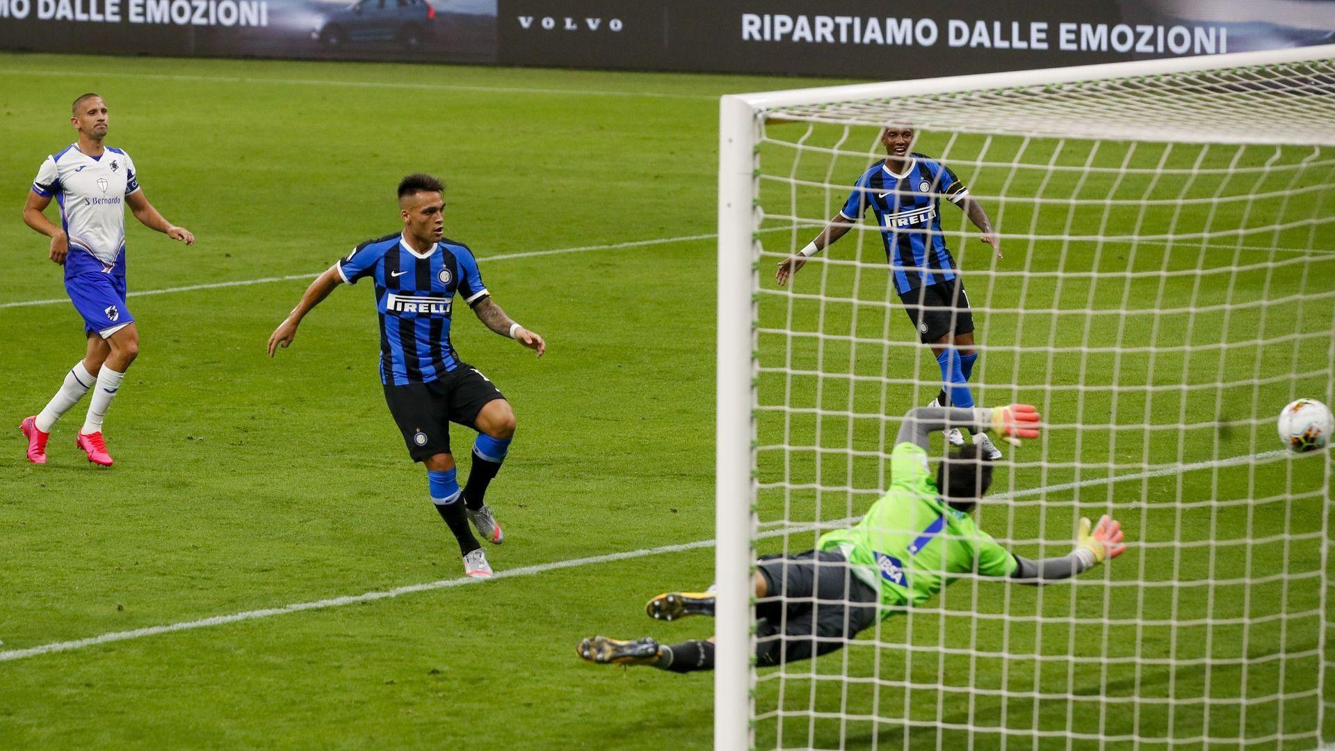 Интер се върна в играта за титлата с два отборни гола по учебник