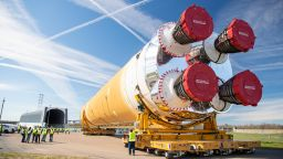 Финален тест за лунната ракета на НАСА