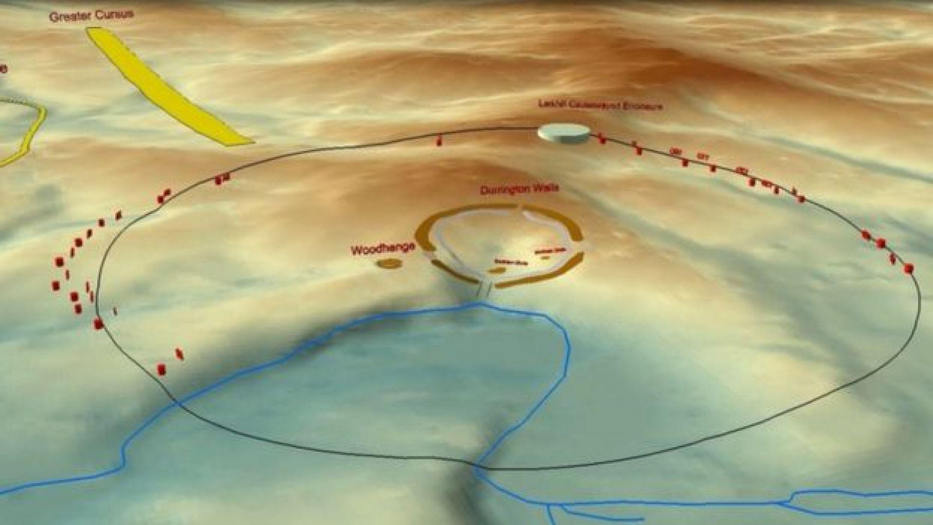 Откриха гигантски кръг от шахти близо до Стоунхендж (видео)