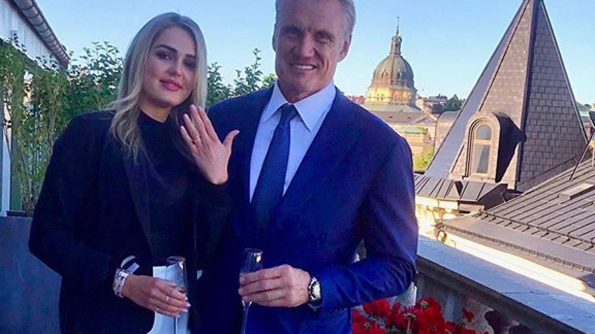 Долф Лундгрен се жени за връстничка на дъщеря си