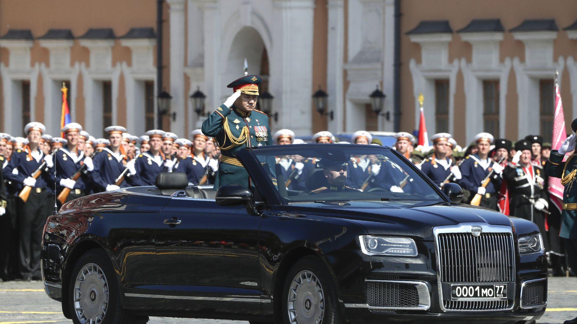 Министърът на отбраната на Русия, Сергей Шойгу, откри парада