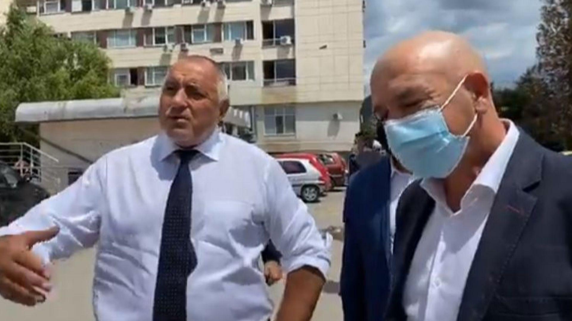"""Борисов провери състоянието на пострадалите работници в тунела """"Железница""""(Видео)"""