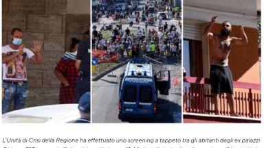 """Италианската армия на крак в """"червена зона"""" с българи с Covid-19, те протестират"""