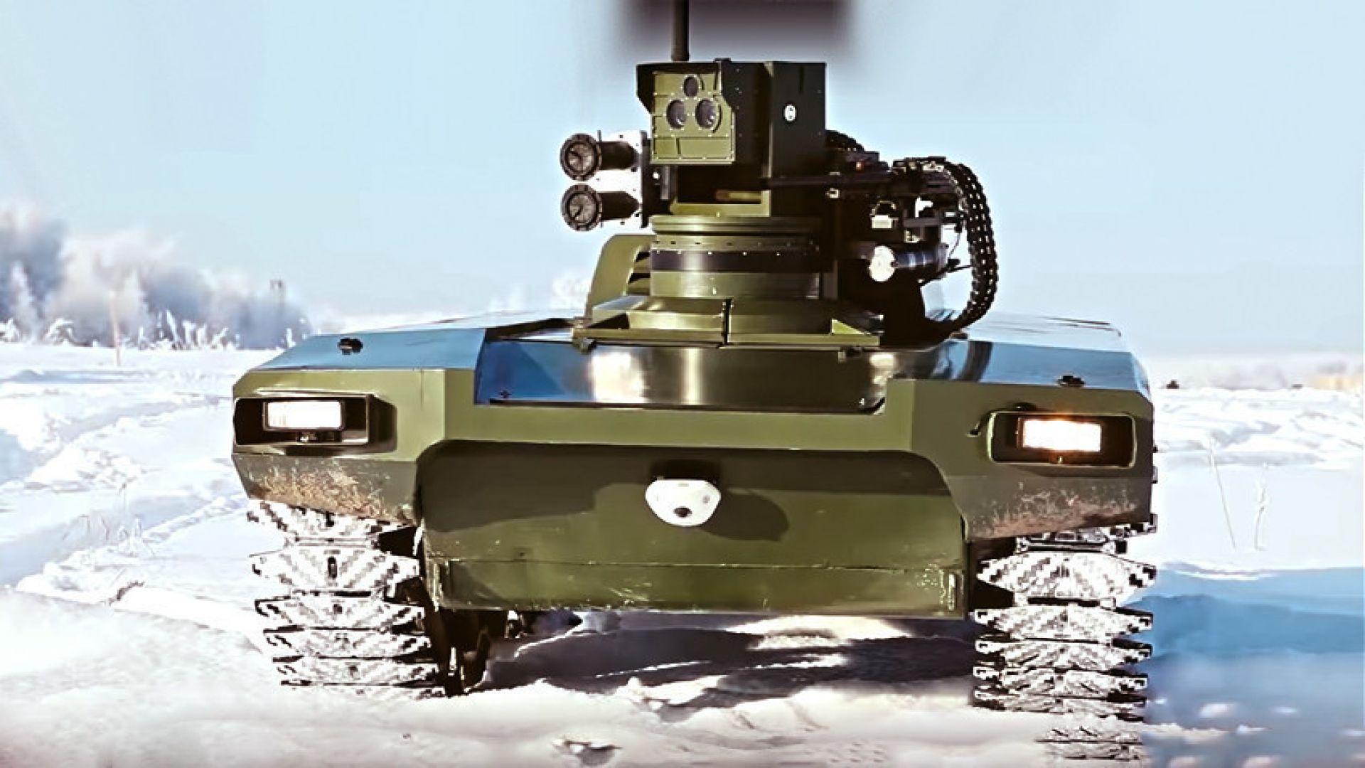 """Руският боен робот """"Маркер"""" ще бъде оборудван с дронове"""