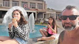 С деца на море: Калин Вельов заведе дъщеря си на почивка