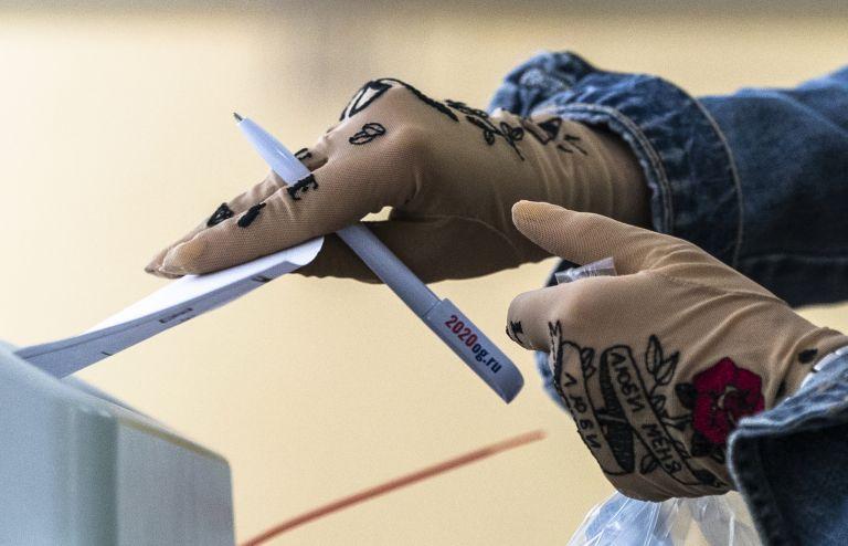 Московканча гласува на референдума