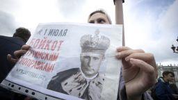 """130 арестувани на протест в Москва заради """"вечния мандат"""" на Путин"""