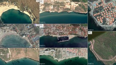 Преди и след: Снимки от Космоса на черноморската ни #БЕТОНОФРЕНИЯ
