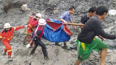 Свлачище погреба над 100 души в мина за нефрит в Мианма (снимки и видео)