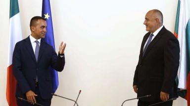 Италианският външен министър поздрави Борисов за справянето с кризата