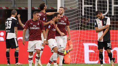 Милан изригна за велик обрат и спря музиката на шампионския купон на Юве