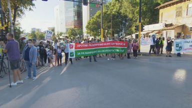 """Протест срещу разширяването на бул. """"Цар Борис III"""" блокира кръстовището с Околовръстното шосе"""