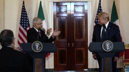 """Тръмп и президентът на Мексико подписаха декларация за """"разцвет, сигурност и хармония"""""""